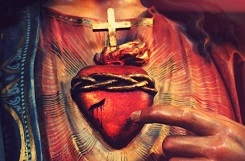 Znalezione obrazy dla zapytania serce Jezusa gorej,ace miłościa